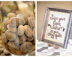 Real Wedding Guest Book Alternatives