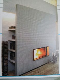 Built in Fire place idea - #FirePlaceInspiration #BWN Visit www.Boardwalknorth.com/blog