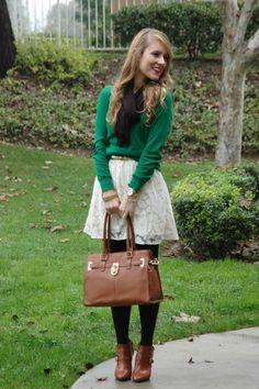 love the idea of wearing a dress as a skirt!