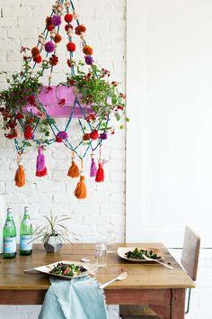 16 superbes idées de décoration avec des pompons