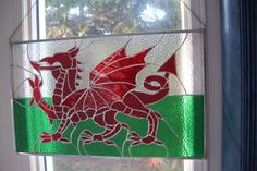 my project - Welsh dragon Stained Glass Projects, Stained Glass Art, Wales Flag, Welsh Dragon, Cymru, Celtic, Glass Houses, Sheds, Create