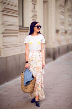 Sunnies - Céline Top - Gina Tricot Skirt - Zara Loafers - Gucci. Photo by Malin Göransson