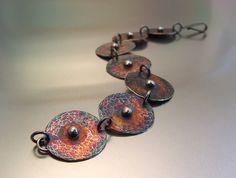 Bracelet |  Melody Armstrong.  Sterling silver, patina