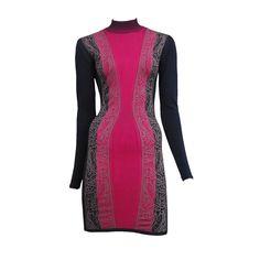 Alaia Fuchsia Knit Dress