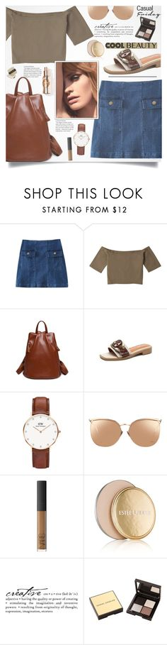 """Zaful II/5"" by lillili25 ❤ liked on Polyvore featuring Daniel Wellington, Linda Farrow, Estée Lauder, WALL, Daniel Sandler and Laura Mercier"