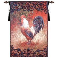 Iron Gate Rooster Wall Tapestry