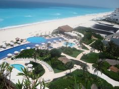 View from our Viento Suite balcony at Live Aqua Cancun Resort, Cancun Mexico