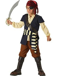 InCharacter Costumes Boys 8-20 Pirate Mate Costume, Blue/White, 10 -- Check out this great product.