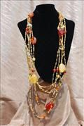 Amber beads with seabeads Necklace