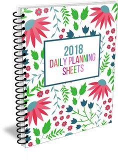 Daily Planning Sheets for 2018. From Organizing Moms.