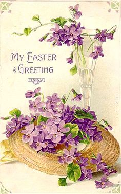 carte postale ancienne #paques #easter