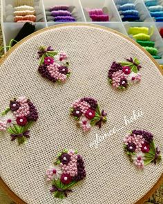 A warm smile to cold weather, happy mornings to everyone 😊 Hand Embroidery Videos, Hand Embroidery Flowers, Hand Work Embroidery, Flower Embroidery Designs, Simple Embroidery, Hand Embroidery Stitches, Embroidery Jewelry, Ribbon Embroidery, Embroidery Art