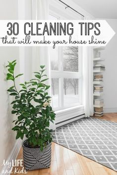 Need some inspiration to get your home clean? These simple cleaning tips will make your house shine. You'll especially love the tips for cleaning your kitchen.