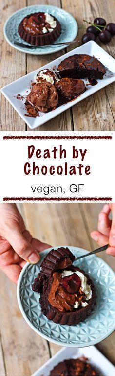 #vegan #glutenfree triple chocolate indulgence