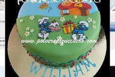 Risultati immagini per torte dei puffi