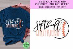 Silhouette Designer Edition, Svg Files For Cricut, Sports Shirts, School Design, Graphic Sweatshirt, T Shirt, Softball, Design Bundles, Girlfriends