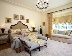 European French Inspired- Master Bedroom  « Culbertson Durst Interior Design