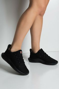 Adidas tubular black tubular black Sneakers for Women - Relaxed Once they were part of sports fashion alone, today they are a development and h. Black Adidas Shoes, Adidas Shoes Women, All Black Sneakers, Adidas Sneakers, All Black Shoes, Sneakers Women, Black Nikes, Shoes Addidas, Nmd Adidas