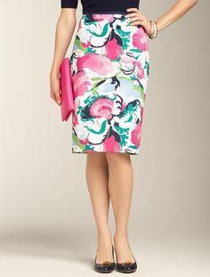 Talbots - Breezy Floral Pencil Skirt | Skirts | Misses. Just loving this skirt