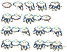 Мобильный LiveInternet Схема плетения ожерелья или браслета с бусинами под жемчуг | Белоснежка_11 - Дневник Белоснежка_11 |