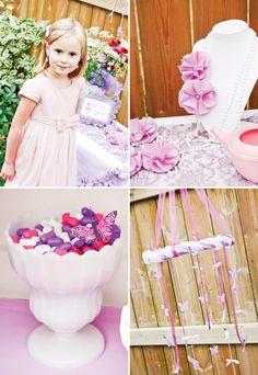 {Fancy Nancy} Pink & Purple Dress Up Party @Holly Morris