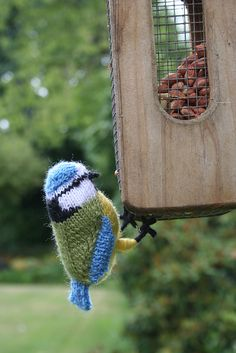 Blue Tit by Lesley Stanfield. I had to do a double take on this one. So cute!