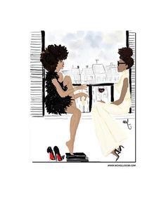 Art print / Poster Black girl x Balcony - Nicholle Kobi