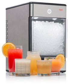 Opal Nugget Ice Machine for the home. The kind of fancy ice..only found in restaurants and soda fountain machines, until now:)
