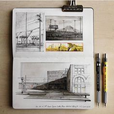 """19k Likes, 26 Comments - Architecture - Daily Sketches (@arch_more) on Instagram: """"By @oleg_skukowski #arch_more"""""""