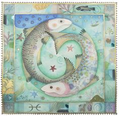 Pisces by Jane Ray  Mixed Media