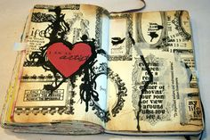 Play with ink in your journal this week, drip it, smear it, splatter it or write with it