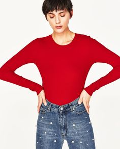 Image 1 of RIBBED SLIM-FIT T-SHIRT from Zara