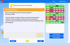 Targeted, online assessments pinpoint learning gaps and automatically call up lessons based on each student's individual needs. Lessons can be completed online or printed out.