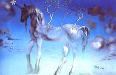 The happy unicorn by Salvador Dali- wouldn't mind a print of this in a future home.