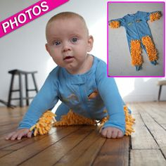 Perfect For All Hardworking Moms! Put Your Infant To Work With A Baby Mop! | Radar Online