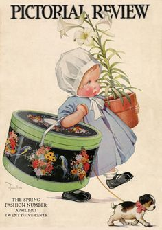 Pictorial Review - Spring Baby (1921) In the hatbox, a hat for Easter ---and a lovely Lily or two for Easter too.
