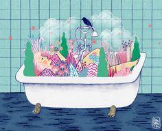 Spring Bath on Behance