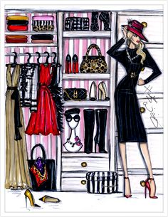 "haydenwilliamsillustrations: ""Fashion Closet by Hayden Williams """