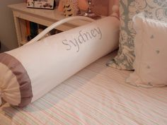 Personalized Bolster Pillow #lettering #DIY