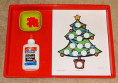Preschool Worksheets: Christmas Do A Dot Printables