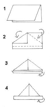 Origami pirate hat instructions