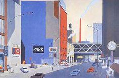 Affiche BD François AVRIL 6424 Park 299 exemplaires signés 60x90 cm