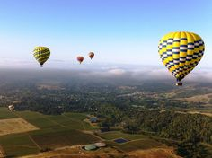 We LOVE watching the hot air balloons in the morning. Definitely a sight to see. California Vacation, California Dreamin', Napa Sonoma, Sonoma County, Napa Valley Wine, Balloon Rides, Future Travel, Wine Country, Vacation Spots