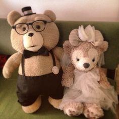 #手作り衣装❁  #テッド#Ted#シェリーメイ#ShellieMay #handmade#wedding#ウェルカムドール #ミシン使えないから手縫い#ちくちく #テッドの顔がおじさん
