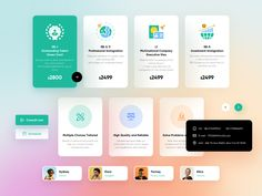 UI Kit for greencardlegal by Tenney Tang on Dribbble