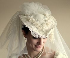 Gorgeous Vintage Wedding Hat by UptownVintage on Etsy, $118.00