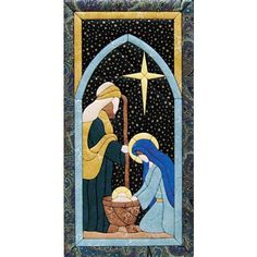 Nativity Scene Quilt Magic Kit. $24.99 Contains fabric, foam board, and instructions. This is no-sew and no-glue.