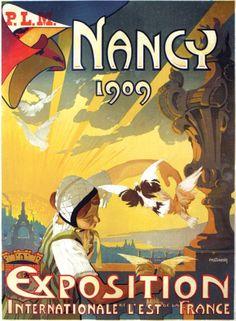 PLM - Nancy 1909 - Exposition internationale de l'est de la France - illustration de Claudin -