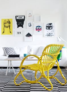 i like the floor and the cat...ok and the yellow chair even though it's wicker