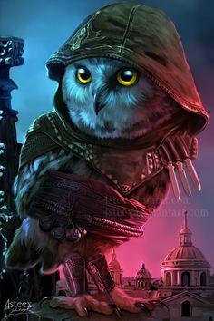 Assassin's Creed - Aguilar owl by 4steex.deviantart.com on @DeviantArt